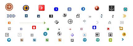 网页箭头方向GIF小图标