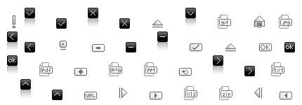 黑灰指向链接提示网页小图标