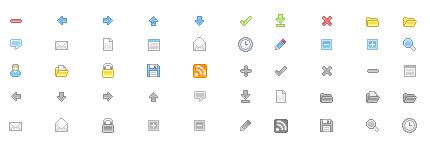 箭头文件夹等常用网页小图标