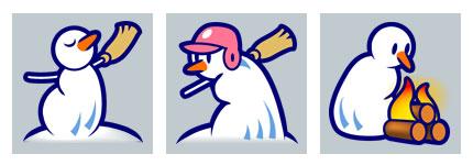 雪人运动网页小图标