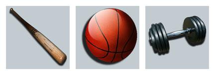 体育用品系列网页图标