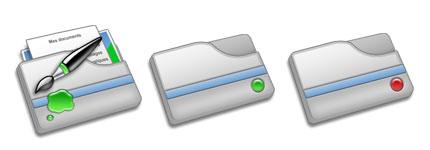 银灰立体文件夹图标
