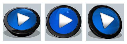 黑框水晶蓝音乐播放图标