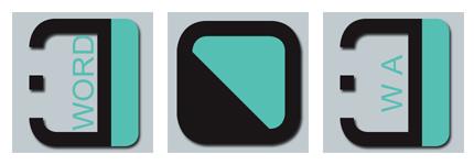 黑绿透明PNG软件图标