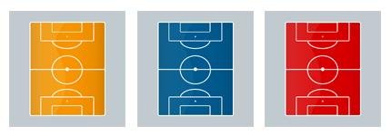 足球场平面图标