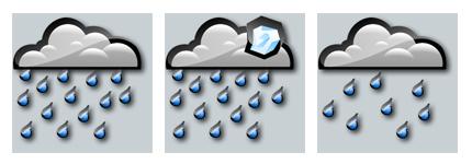 灰色天气预报网页图标