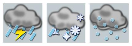 灰色气象变化图标