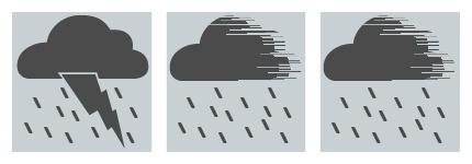 平面天气变化图案图标