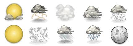 10种天气变化小图标