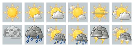 天气预报卡通小图标