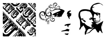 黑白卡通花纹图案图标
