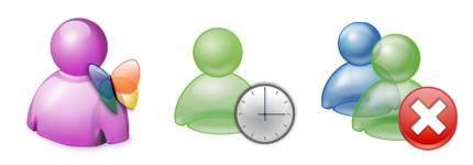 MSN用户状态提示网页图标