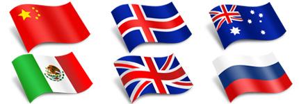 外国国旗_中国国旗图标表情分享展示