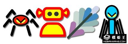 多彩系列平面卡通图标