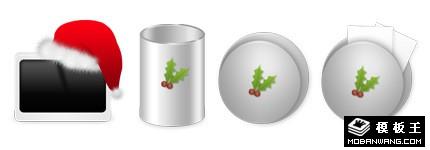 金属风格圣诞节系列图标