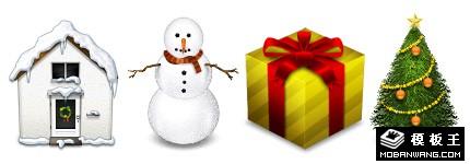圣诞节装饰立体系列图标