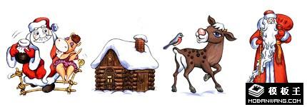 卡通漫画圣诞节系列网页图标