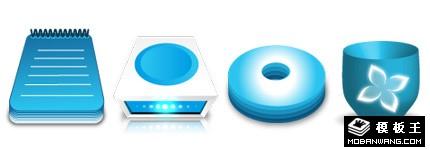 蓝精灵Apple办公系列图标