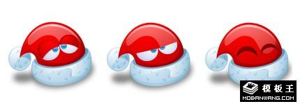 可爱卡通圣诞帽图标