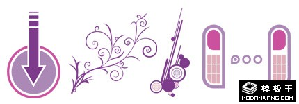 紫色抽象流行设计图案
