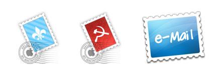 邮票形状的系统主题透明图标