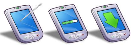 卡通PDA手机图标