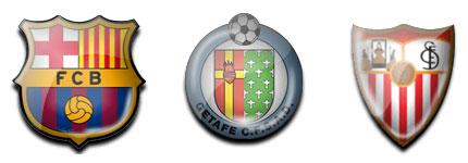 足球俱乐部logo风格水晶透明电脑图标