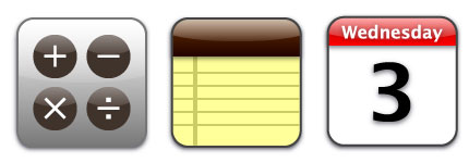 iphone手机系统主题的透明图标