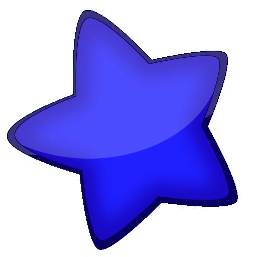 qq腾讯微博图标_超大卡通可爱型星星透明图标,PNG_模板王图标大全