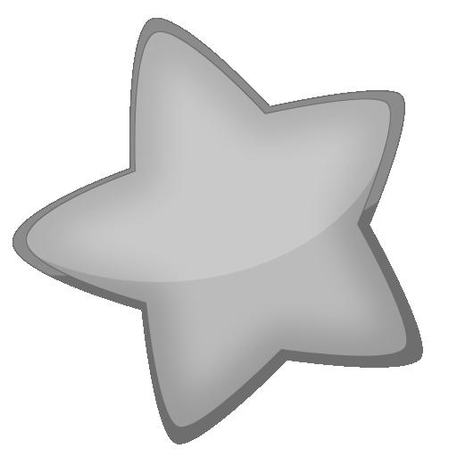 超大卡通可爱型星星透明图标