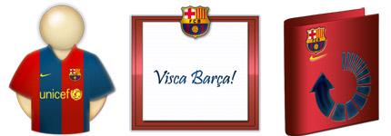 巴塞罗那主题风格电脑图标