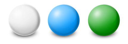 五颜六色的圆球图标png