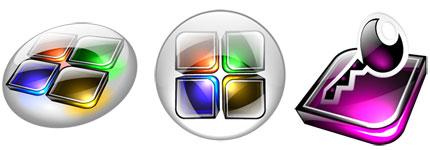 水晶效果Office系列软件图标