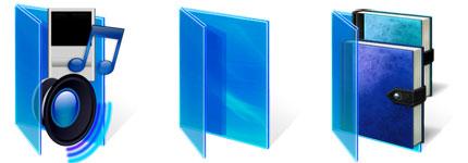 蓝色风格vista文件夹图标