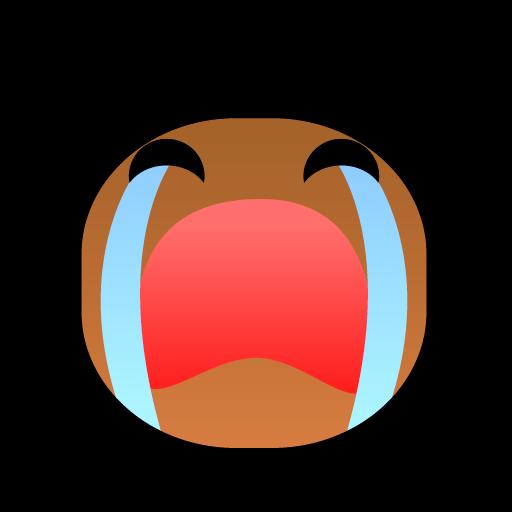 可爱非洲黑人小朋友表情图标