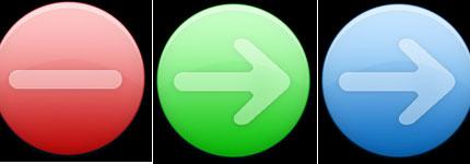 圆形常用按钮透明图标