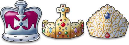 各式精致的卡通皇冠图标
