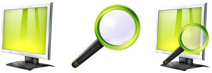 绿灰色水晶效果Vista透明图标