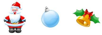 圣诞节元素的立体卡通图标
