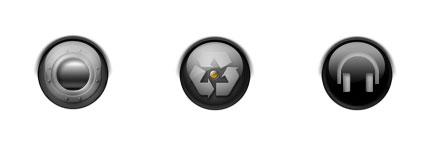 圆形黑色水晶电脑系统图标