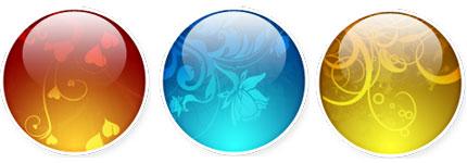 五颜六色梦幻花纹水晶球图标