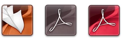 正方形圆角水晶风格Adobe软件图标