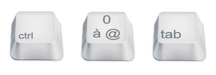 白色键盘按钮图标