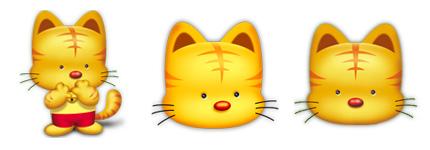 可爱的黄色小老虎图标