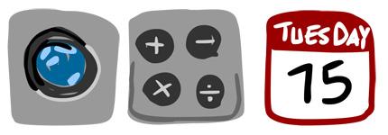 手绘iPhone手机应用程序图标