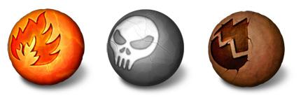 圆球形质感创意图案图标