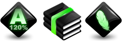 黑色立体质感电脑系统图标