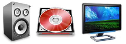 清新的水晶风格电脑系统图标