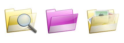 色彩丰富的精美系统文件夹图标