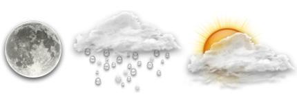 Yahoo网站天气预报图标